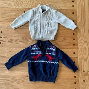 Two Like- new sweaters, size 9-12 months